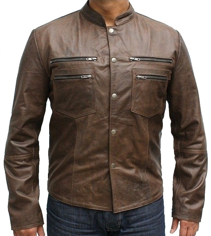 Brown Leather Jackets. Clothing & Shoes / Men's Clothing / Men's Outerwear / Jackets. of 61 Results. Sort by: Men's Brown Leather Shirt Jacket Relaxed Fit. 7 Reviews. Quick View NuBorn Leather Men's 'Norton' Brown Moto Jacket with Thinuslate Lining.