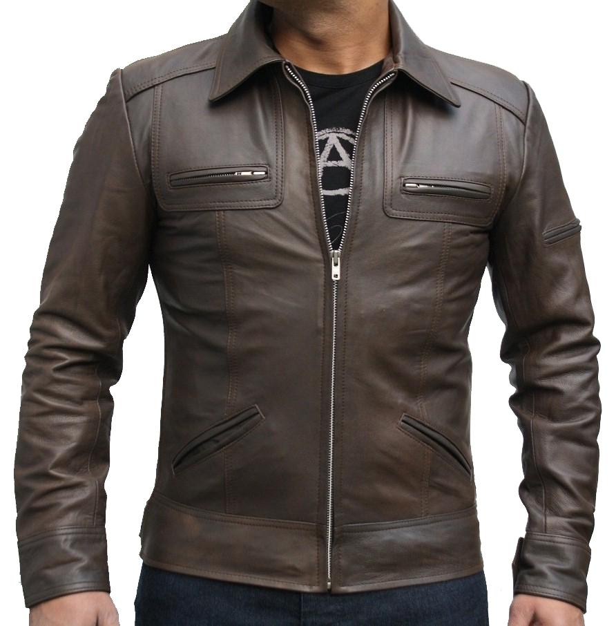 Vintage style leather Jacket - Mens Leather Jacket Uk