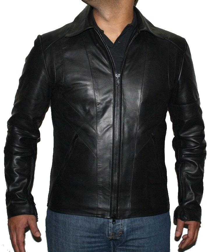 Black leather jacket-Mens black leather jacket