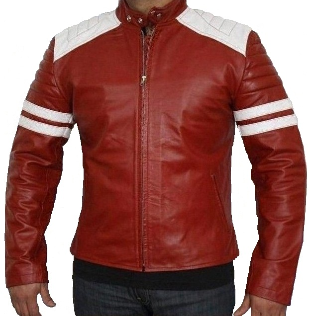 Brad Pitt Leather Jacket Fight Club. Mayhem Fight Club Jacket