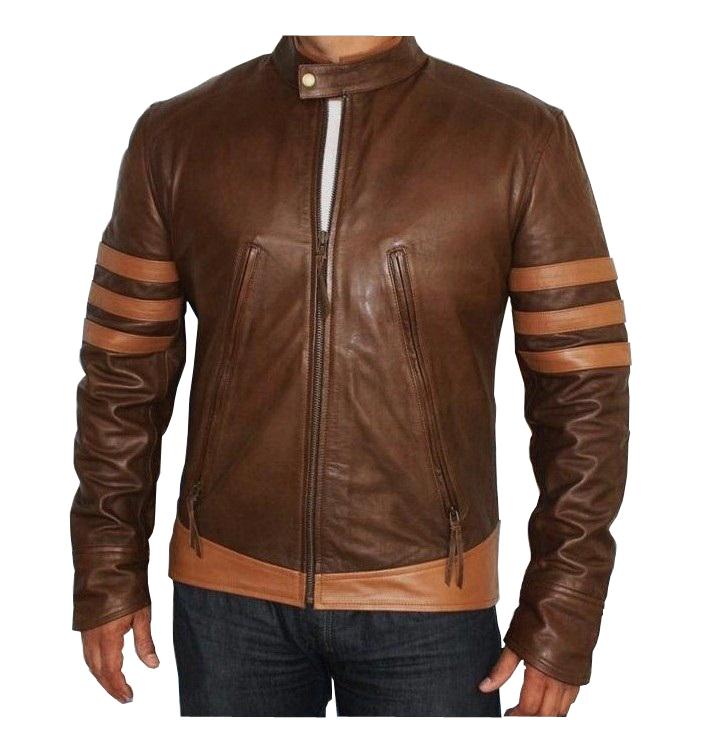 Hugh jackman leather jacket