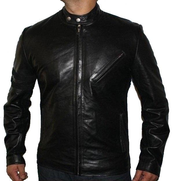 Designer Leather Jacket Mens - Jacket