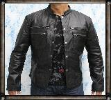 Rock Star Black Leather Shirt