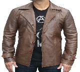 70s style Leather Jacket -  3XL