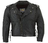 Mens Biker Jacket-010  M XL