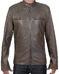 Cafe Racer Style Jacket Antique Olive