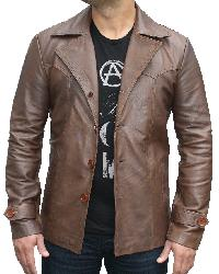 70s style Leather Jacket -  S L