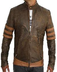 X-Men Origins Distressed Leather Jacket
